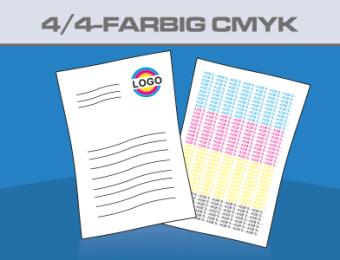 Briefbögen DIN A4 beidseitig 4-farbig