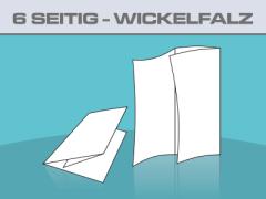 Folder DIN A4 6 Seitig Wickelfalz