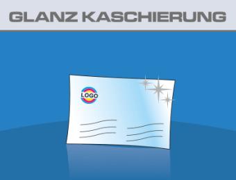 Visitenkarten Hochglanz Folienkaschiert