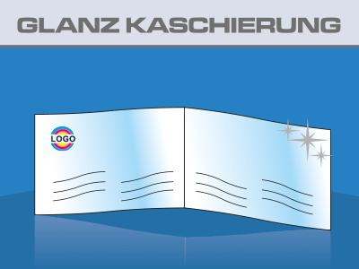 Klapp Visitenkarten Hochglanz Folienkaschiert Flyerpoint